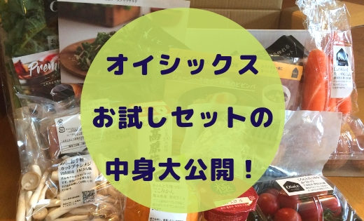 【中身の画像有】送料無料!Oisixオイシックスお試しセット口コミレビュー