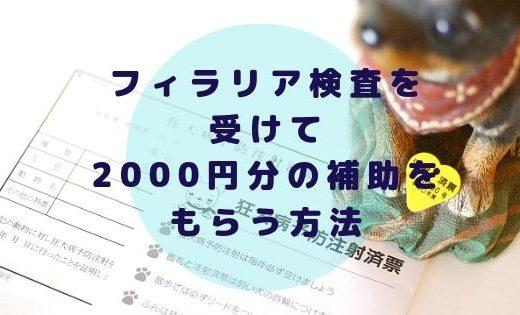 フィラリア予防費用を安くする方法!2000円分の補助が受けられる!【EPARKペットライフ】